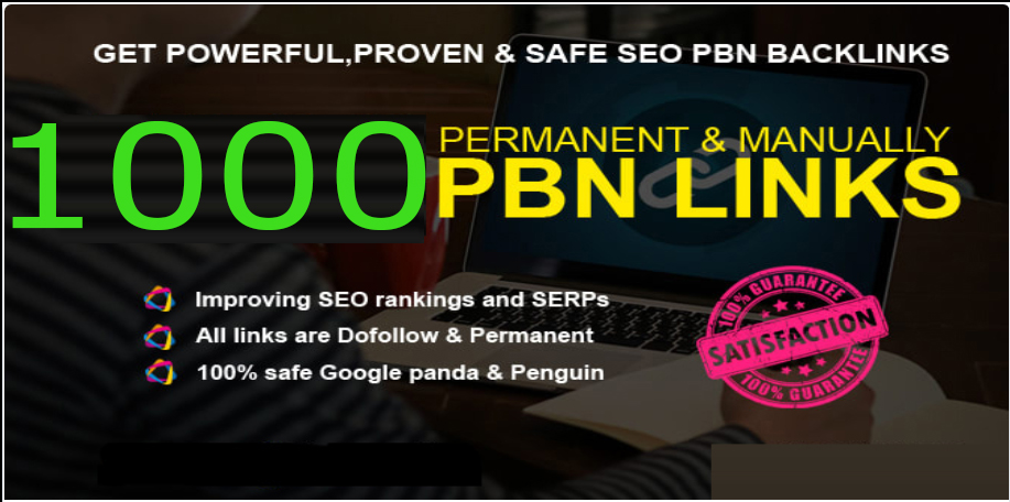 powerfull 1000+ pbn backlink with high DA/PA/TF/CF on your homepage with unique website