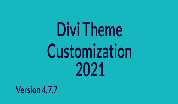 I will do divi theme customization