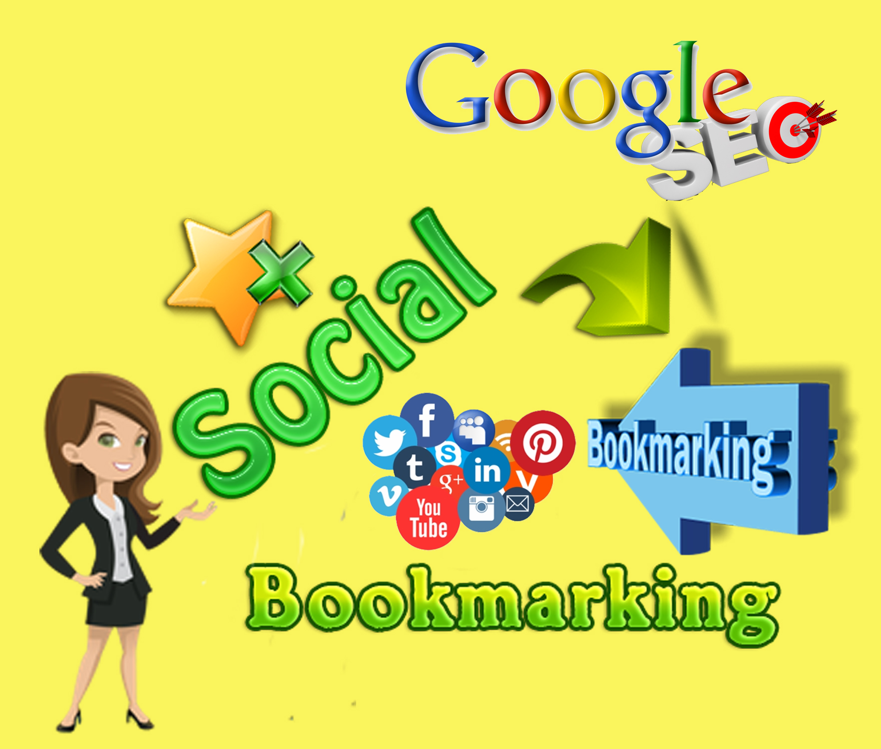 I will do 50 HQ social bookmarking to create do follow SEO backlinks for google top ranking