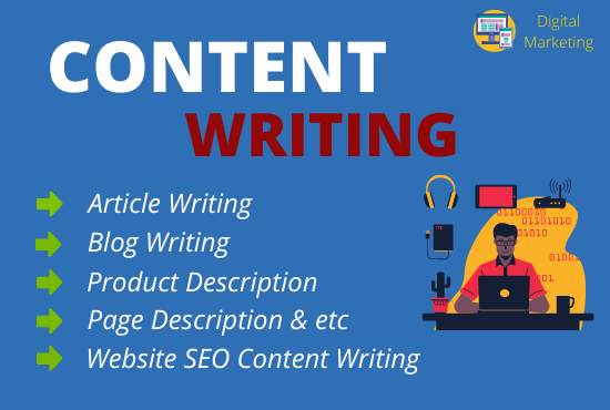 DO 1500 words SEO friendly Content Writing,  Blog Writing and Article Writing