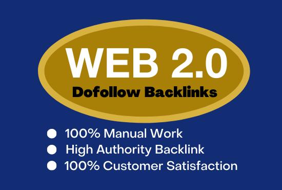 Do manually 60 high DA PA WEB 2.0 backlinks for your website.