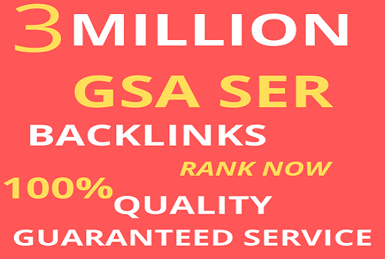 I Will rank your website on google using 3M GSA SER backlinks