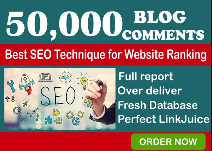I'll create 50,000 GSA Blog Comments Backlinks for Google Ranking