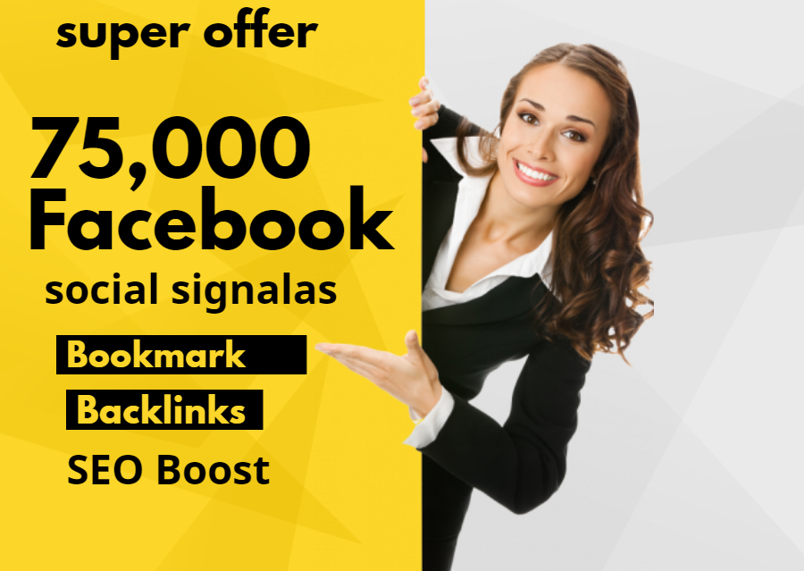 Give 75,000 Facebook Social signals For Website Google Ranking SEO Boost