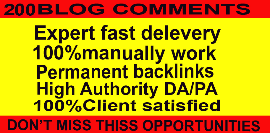 I will provide 200 Niche Relevant Blog comments high Backlinks