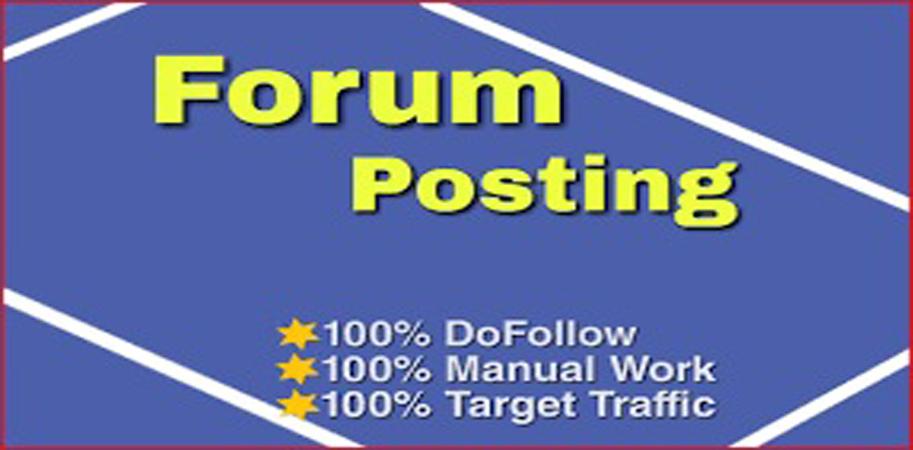 I will do create 30 forum posting backlink
