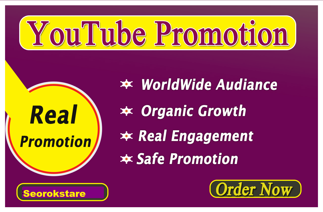 i will do promote your video with real adiounce