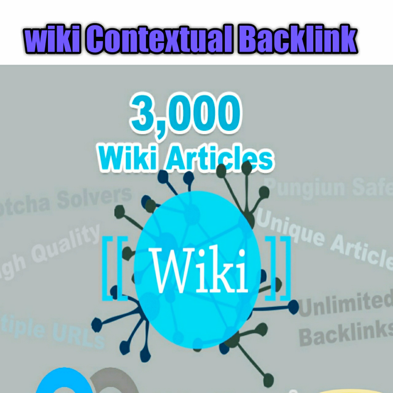 3,000 Wiki Articles Rank your site Unlimited Wiki Backlinks
