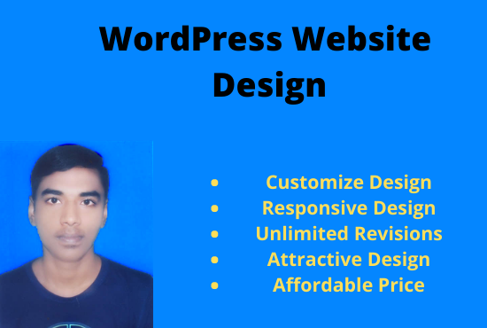 I will create personal, business wordpress website design
