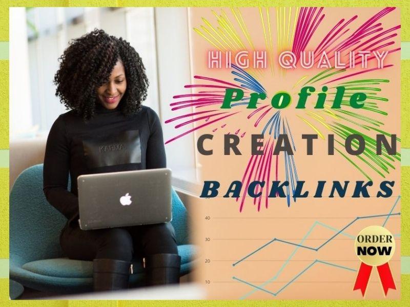 I will manually create 30 high quality social profile creation backlinks
