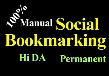 20 Social Bookmarking high DA permanent backlinks must rank your website by quality link building