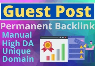 5 Guest Post unique article high Authority website Permanent Backlinks