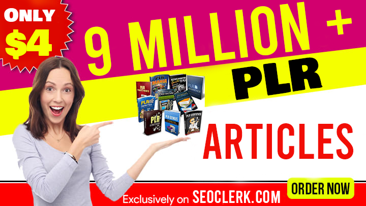 9 Million+ PLR Articles for content writing