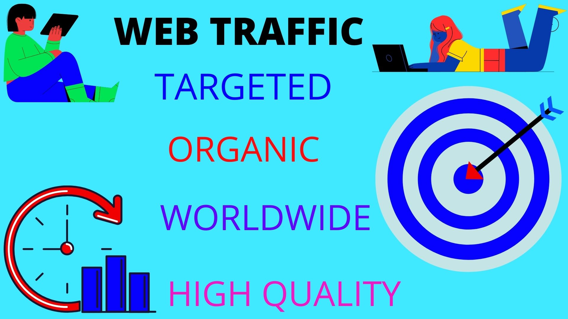 drive real genuine 25000 worldwide organic traffic for your website