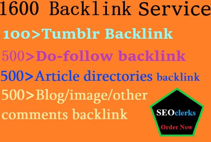 1600 High quality Google TOP Ranking Backlinks