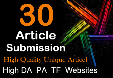 Publish 30 Best Article Submission Backlinks The Top Google Ranking