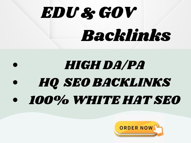 I will provide you 20 EDU. GOV Backlinks with high PR/DA