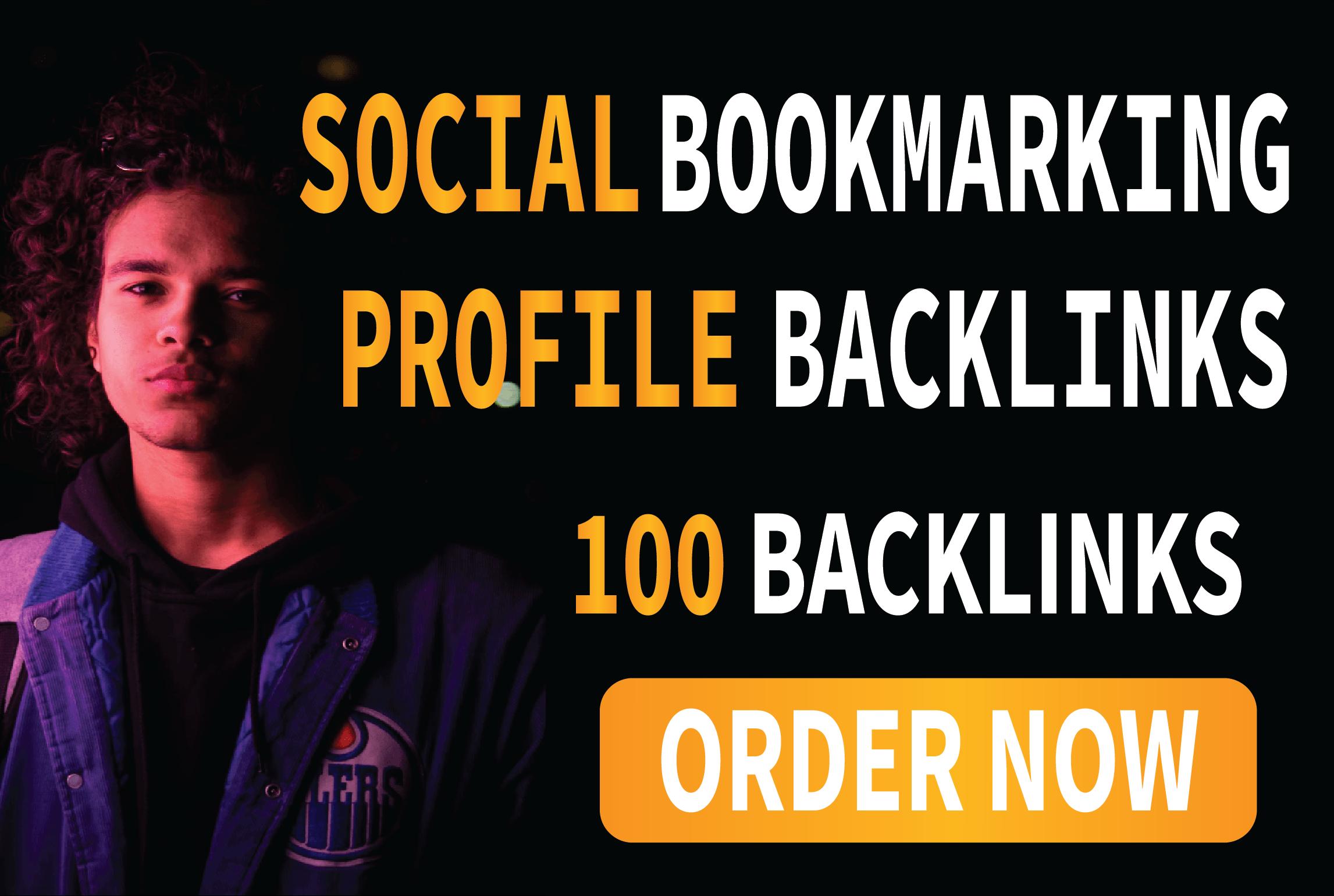 I will do 100 social bookmarking SEO profile backlinks