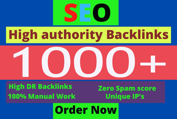 I will provide 1000+ dofollow backlinks for off page seo service