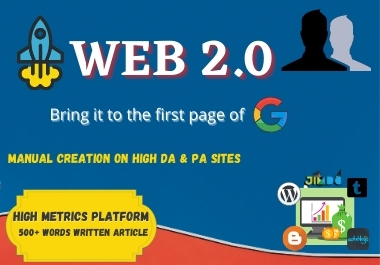 I will do 20 High Quality Web 2.0 Mini Sites Service Best of 2021