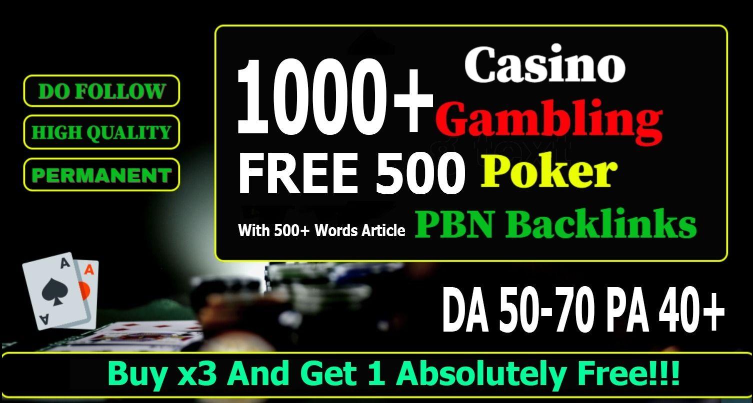 Buy 2 Get 1 Free 2021 Casino Gambling Adult Sites Package 1000+ Backlinks