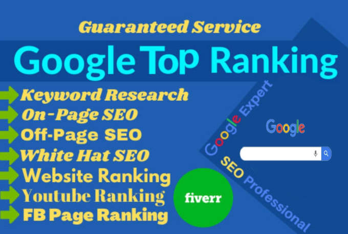I will rank your website on google top within 10 days