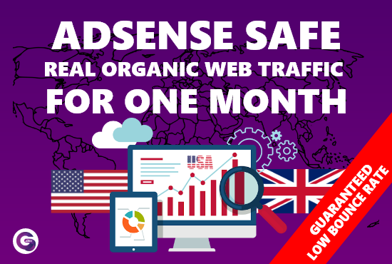 I Will send adsense safe USA,  UK and Australia targeted organic web traffic