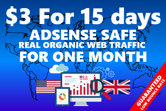 Real organic traffic for 15 days