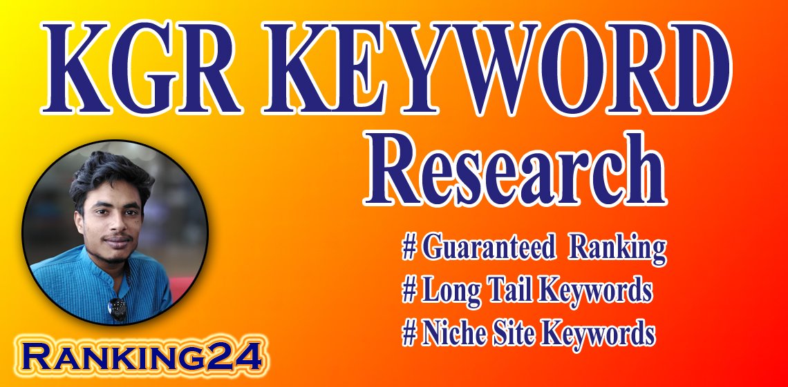 I will do kgr keyword research for your website