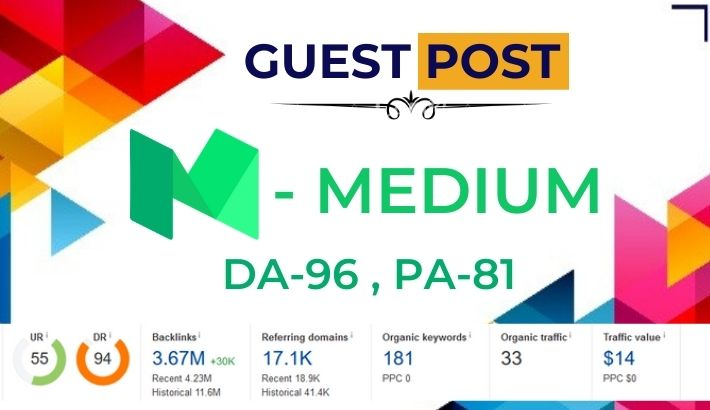 Publish high authority Guest Post on blog Medium. com DA 96 PA 81