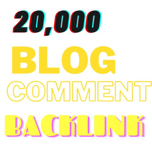I'll create 20000 GSA blog comment backlinks for your website for google ranking