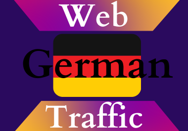 German traffic for 30 days Unlimited traffic low bounce google analytics traceable web traffic