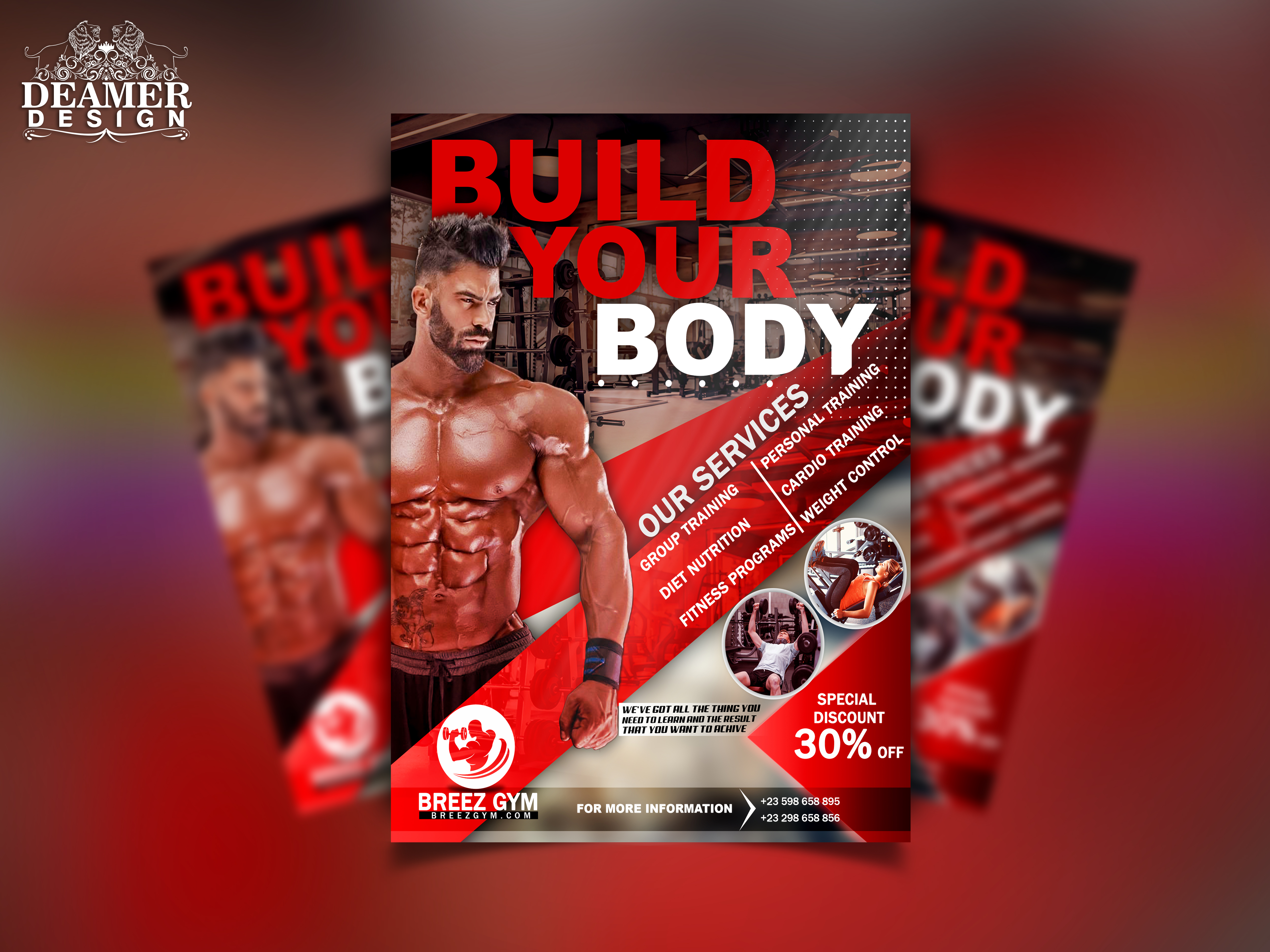 We will design attractive flyer,  brochure design with Unlimited revisions