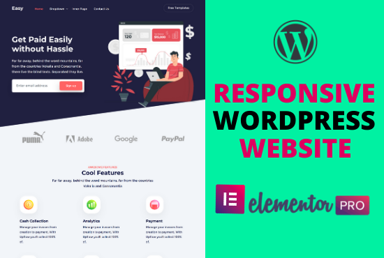 I will create Wordpress website or landing page using elementor pro