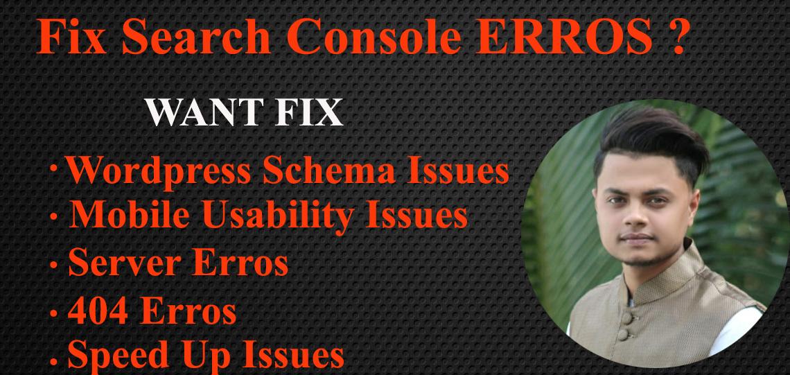 I will fix index coverage errors on google search console
