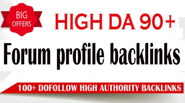 I will create 100 high da dofollow pr9 forum profile backlinks