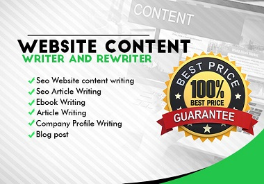 I will be your SEO website content writer, article writer, blog post writer