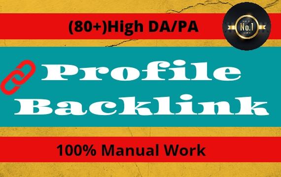 I Will Create High Authority SEO Profile Backlinks