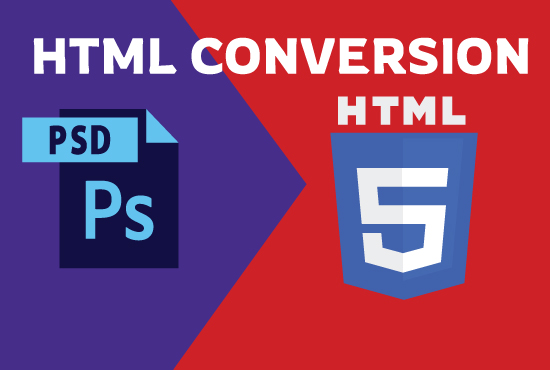I will design responsive web site or home page psd to html