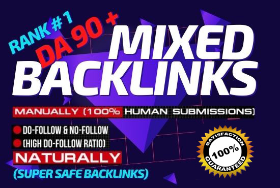 20 Manually Mixed Backlinks High Authority Permanent DoFollow link building Rich your site On Google