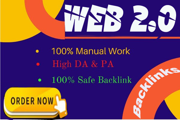 25 Manual Web 2.0 Backlinks Dofollow High Quality Permanent Link Building