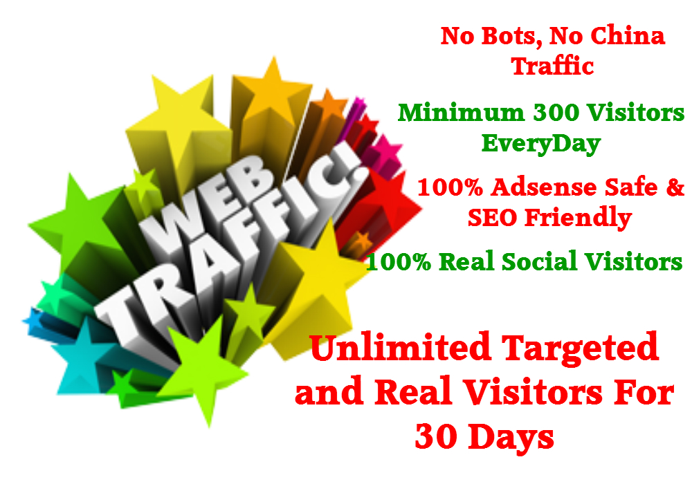 We can provide real organic web traffic 1500+ daily for 30 days