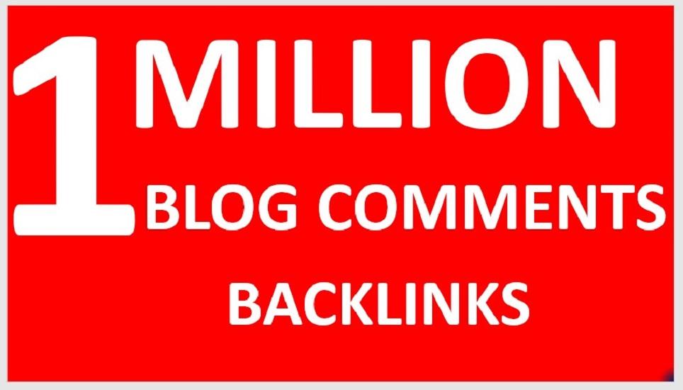 do 1 million live check seo blog comment dofollow backlinks for your website