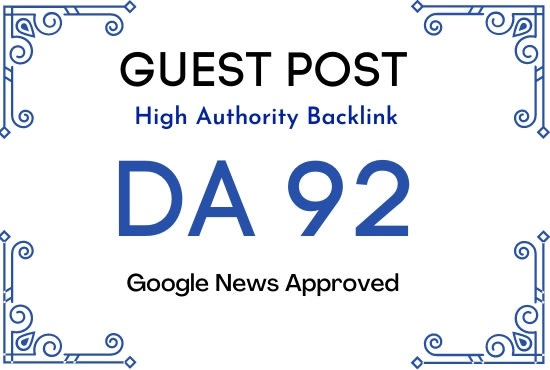 publish guest post on da 92 google news site dofollow link