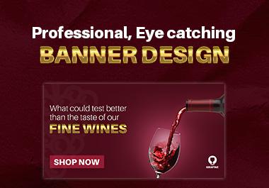 I'll Design professional attractive web banner and post design