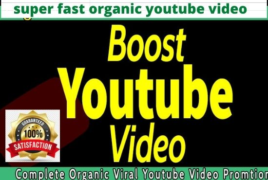 I will do super fast organic youtube video promotion for top video ranking 2,000 live audience