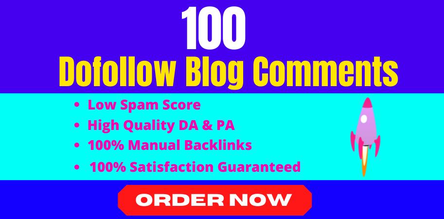 I will manually create 100 dofollow blog comments seo backlinks