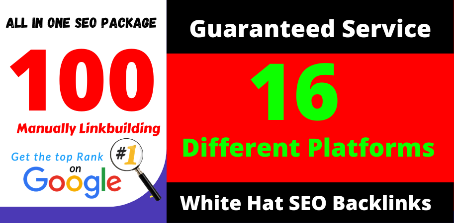 Skyrocket Your Site Into TOP Google Rankings With 100 All in One SEO Manual Link Building Package