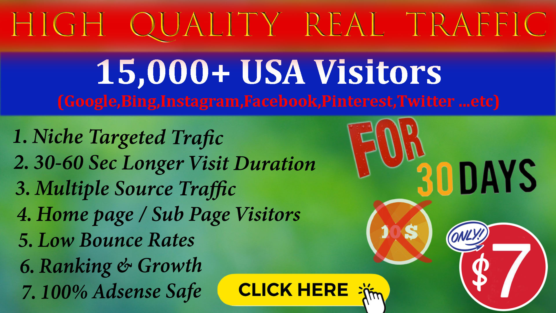 Bring High Quality Real USA Targeted Visitors