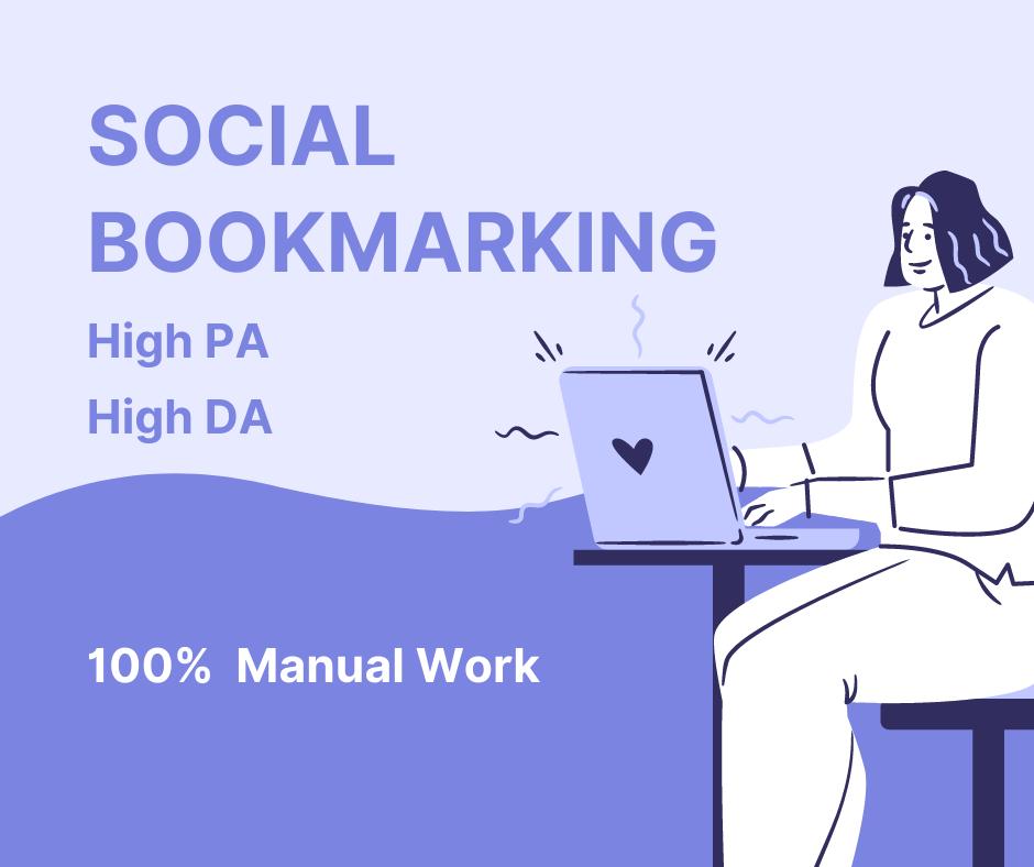 20 social bookmarking on high PR backlinks for your website